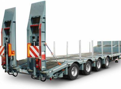 Podvalníky značky Schwarzmüller – systémy bezpečné přepravy pro drahé stavební stroje