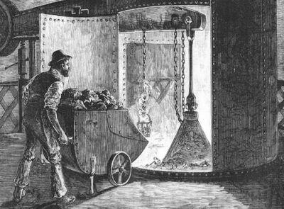 Zpracování železné rudy v Anglii